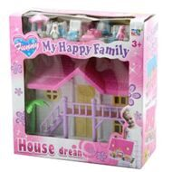 Дом для куклы с меб. BOX 18*18*7см  My happy family House dream, 2в., арт.3906
